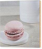 Pink Macaroon Wood Print