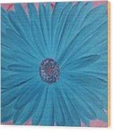 Pink N Blue Wood Print