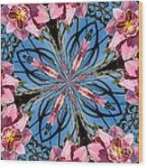 Pink Orchid Kaleidoscope 2 Wood Print