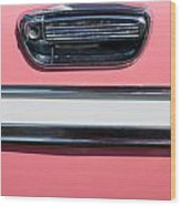 Pink Paint On Old Vintage Car Wood Print