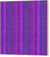 Pink Purple And Blue Striped Textile Background Wood Print
