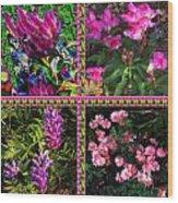 Pink Purple Flowers Captured At The Riverside Ridge At Oakville Ontario Canada Collage Beautiful     Wood Print