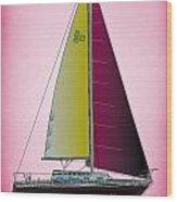 Pink Retru Wood Print
