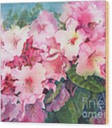 Pink Rhodies On Demand Wood Print