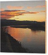 Pink River Wood Print