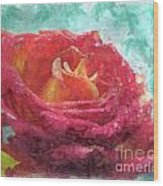 Pink Rose - Digital Paint II Wood Print