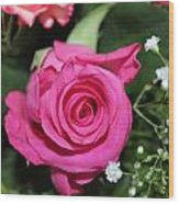 Pink Rose Adds Colour Wood Print