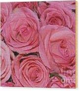 Pink Rose Closeup Wood Print