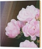 Pink Rose Cluster Wood Print