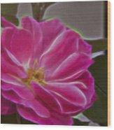 Pink Rose Digital Art 2 Wood Print