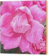 Pink Rose Painting  Wood Print