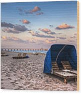 Pink Sands Wood Print by Debra and Dave Vanderlaan