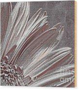 Pink Silver Wood Print