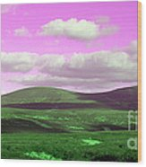 Pink Sky Wood Print by Jo Collins