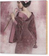 Pink Snow Wood Print
