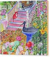 Pink Stairs Wood Print