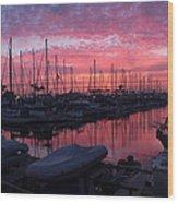 Pink Summer Sunset  Wood Print
