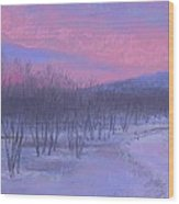 Pink Sunrise At Catfish Corner Wood Print
