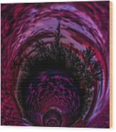 Pink Sunset Illusion 2 Wood Print