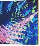 Pink Tea Leaf Erickson Wood Print
