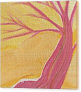 Pink Tree By Jrr Wood Print
