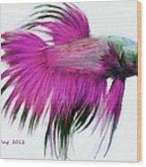 Pink Tropical Fish Wood Print