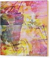 Pink Vineyard Plumps Wood Print