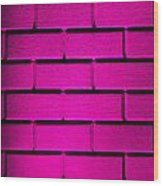 Pink Wall Wood Print by Semmick Photo