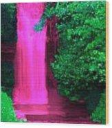 Pink Waterfall Wood Print