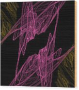 Pink Web Wood Print