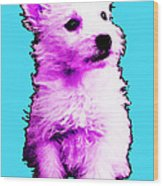 Pink Westie - West Highland Terrier Art By Sharon Cummings Wood Print
