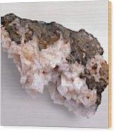 Pink-white Chabazite In Basalt Groundmass Wood Print