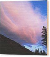 Pink Yellowstone Sunset Wood Print