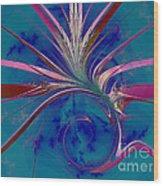 Pink Yucca Twist Wood Print
