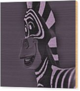 Pink Zebra Wood Print
