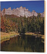 Pinnacle Buttes On Brooks Lake Creek Rocky Mountains Wood Print