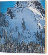 Pinnacle Peak Winter Glory Wood Print