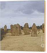 Pinnacles Australia Wood Print