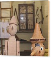 Pinocchio Wood Print by April Antonia