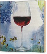 Pinot From Vine To Glass II Wood Print