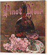 Pinot Noir Vintage Advertisement Wood Print by