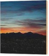Pintler Sunset  Wood Print