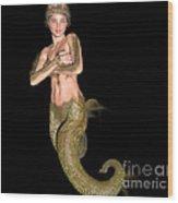 Pinup Mermaid Wood Print