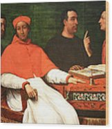 Piombo's Cardinal Bandinello Sauli And His Secretary And Two Geographers Wood Print