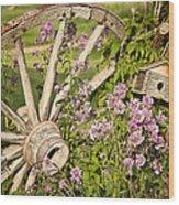 Pioneer Blossoms - Casper Wyoming Wood Print