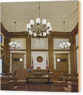 Pioneer Courthouse Courtroom In Portland Oregon Downtown Wood Print
