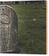 Pioneer Grave Wood Print by Jean Noren