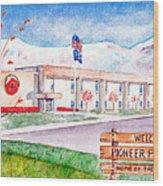 Pioneer Peak Elementary School Wood Print