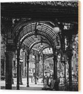 Pioneer Square Pergola Wood Print by David Patterson