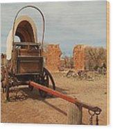 Pionner Wagon Wood Print